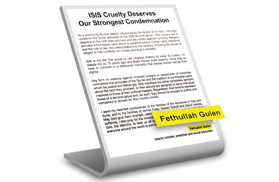 Fethullah Gülen condemns ISIL atrocities in ads in leading newspapers